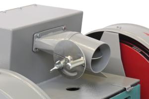 Патрубок с шибером для подключения системы пылеулавливания