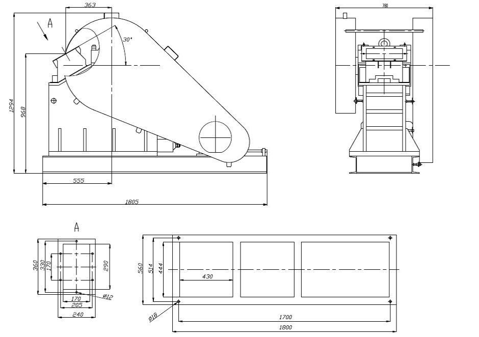 Щековая дробилка ЩДС 180х250