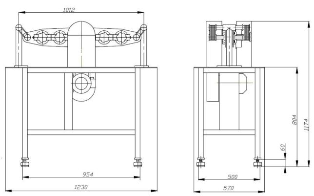 Установочный чертеж ИВС-4 (75Т-ДРМ)