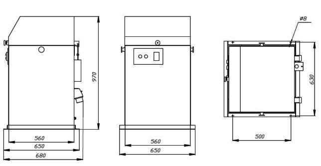 Установочный чертеж ИВЧ-3