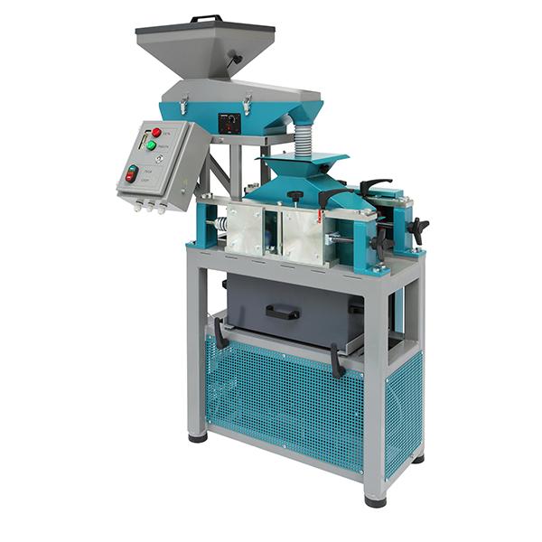 Дробилка валковая ДВГ 200Х125 в Вибрационным питателем для равномерной подачи материала