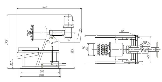 Мельница шаровая лабораторная консольная МШЛ-22К (мельница Бонда)