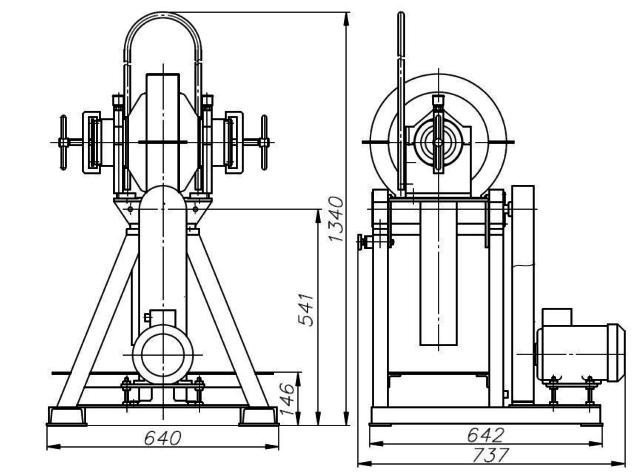 Установочный чертеж МШЛ-7 (40 МЛ)