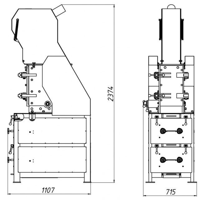 Схема Дробилки комбинированной валковой щековой ДКВЩ