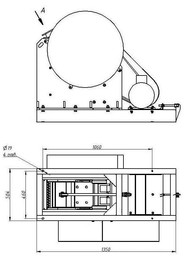 Дробилка щековая ДЩ 180х250 схема