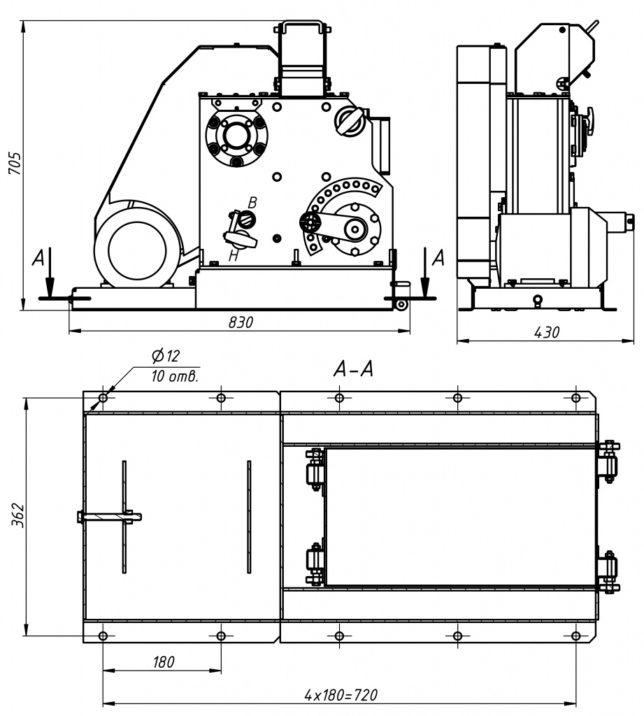 Дробилка щековая ДЩЛ 100х100 лабораторная схема