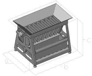 Делитель желобчатый (полевой) ДПП 450 -схема